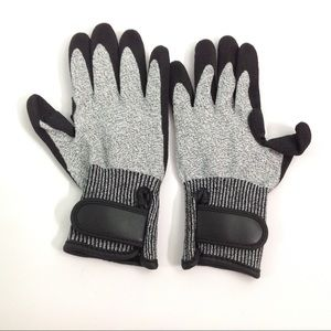 New Thick Work Gloves Gray Black